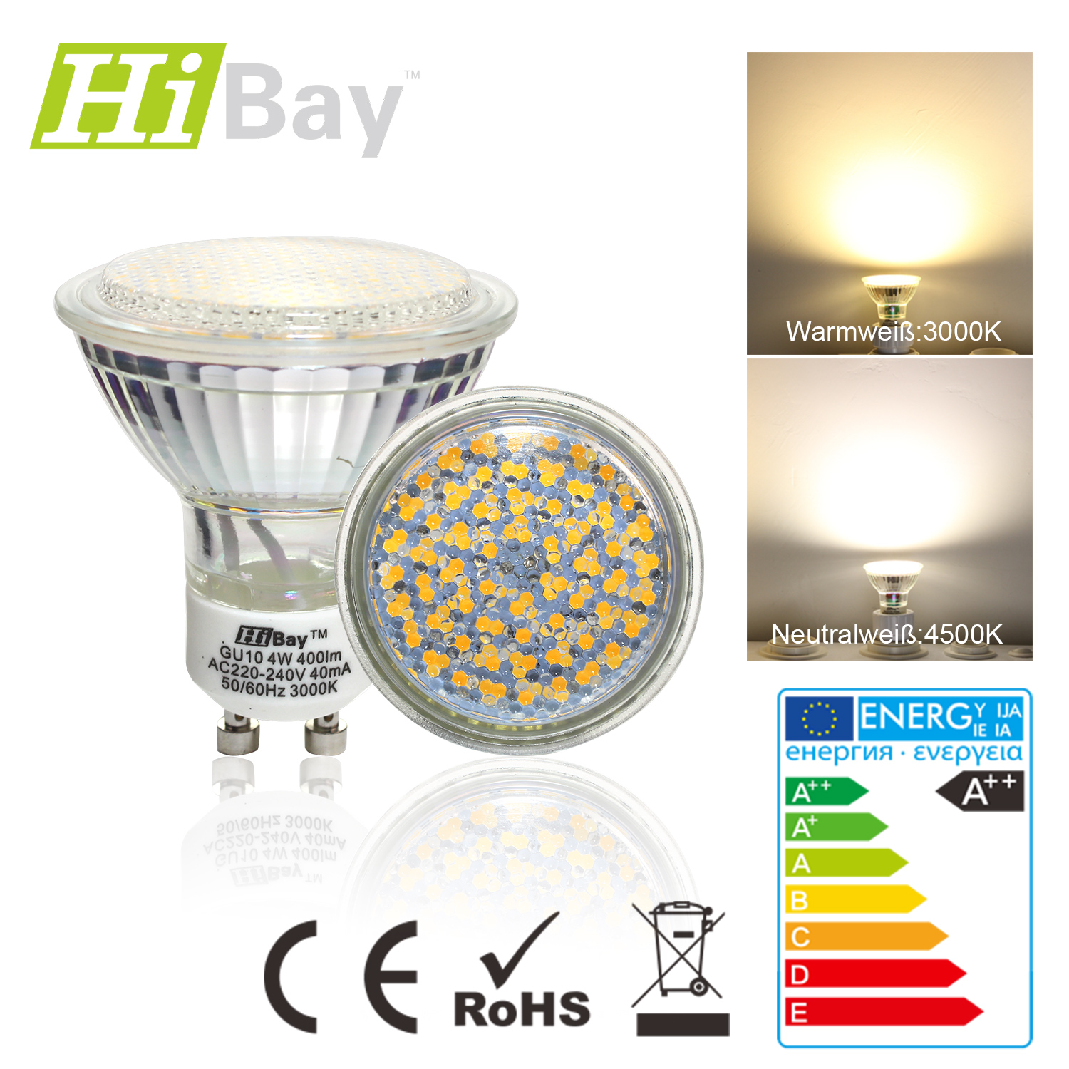 1er 4er 10er 4w gu10 60smd led licht strahler 35w licht strahler licht spot ebay. Black Bedroom Furniture Sets. Home Design Ideas