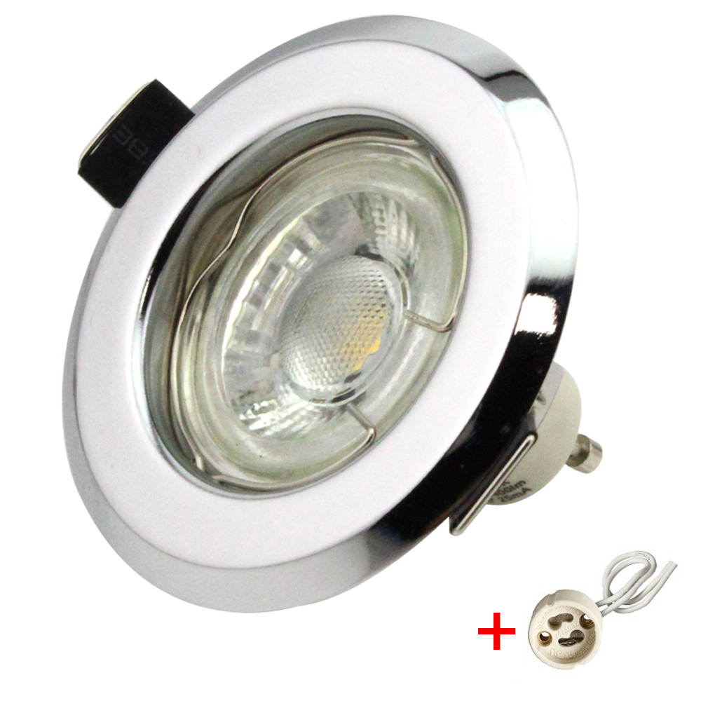 einbaustrahler set einbauspot gu10 led cob 5w einbaurahmen 230v strahler ebay. Black Bedroom Furniture Sets. Home Design Ideas