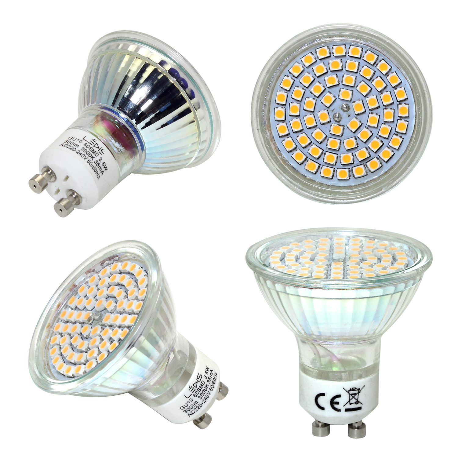 3 5w gu10 led ampoule 60smd projecteur lampe blanc chaud pur 300lm 120 degr s ebay. Black Bedroom Furniture Sets. Home Design Ideas