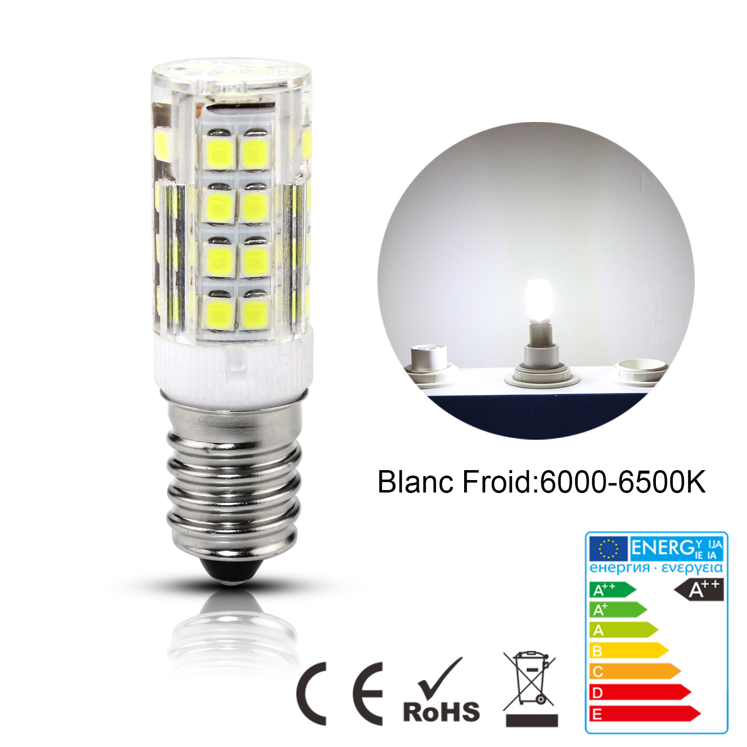 e14 5w led 51smd ampoule ma s lampe capsule remplace halog ne blanc chaud froid ebay. Black Bedroom Furniture Sets. Home Design Ideas