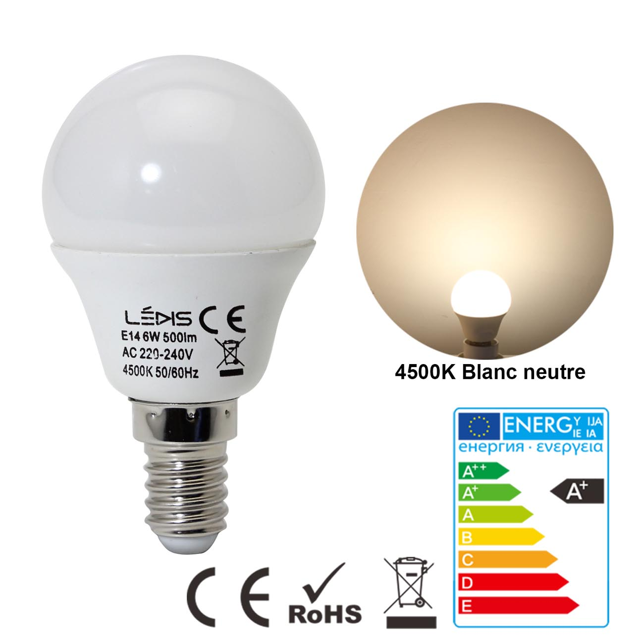 E14-E27-5W-6W-LED-Ampoule-Lampe-Bougie-Candle-SMD-Chandelier-Golf-Globe-Lumiere