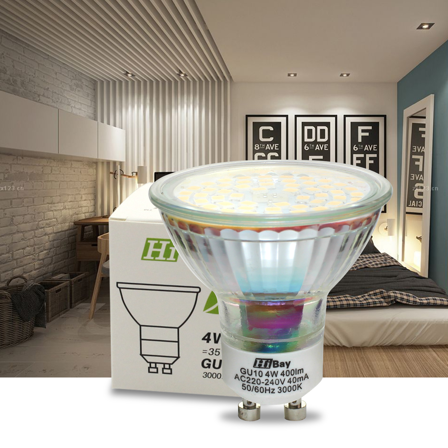 led gu10 4w 60smd warmwei neutralwei lampe birne strahler licht spot ebay. Black Bedroom Furniture Sets. Home Design Ideas
