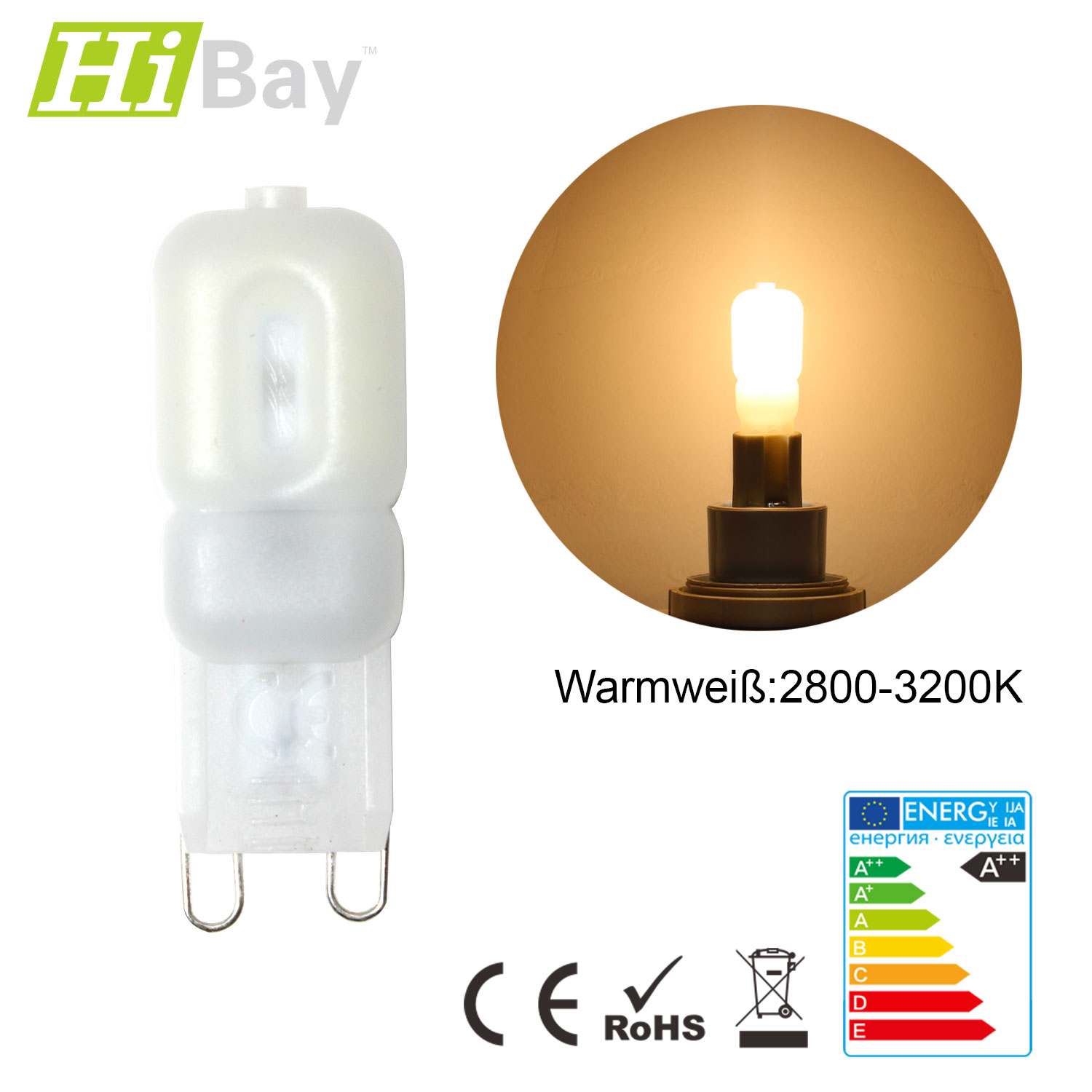 1 10er dimmbar g9 3w 5w mini 25w 40w halogen licht lampen kapsel led chandelier ebay. Black Bedroom Furniture Sets. Home Design Ideas