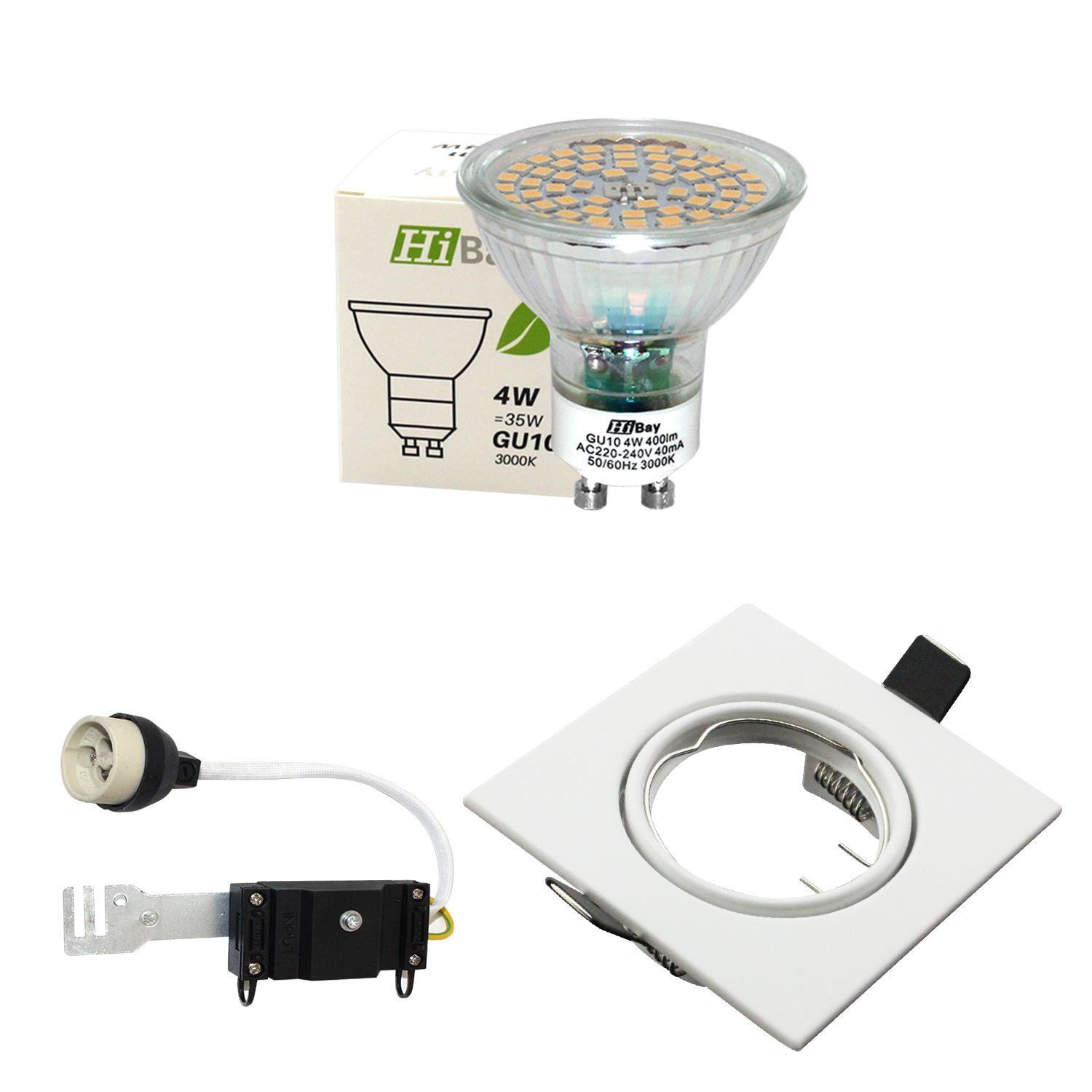 Modern Mains LED GU10 Tilt Downlights Recessed Ceiling ...
