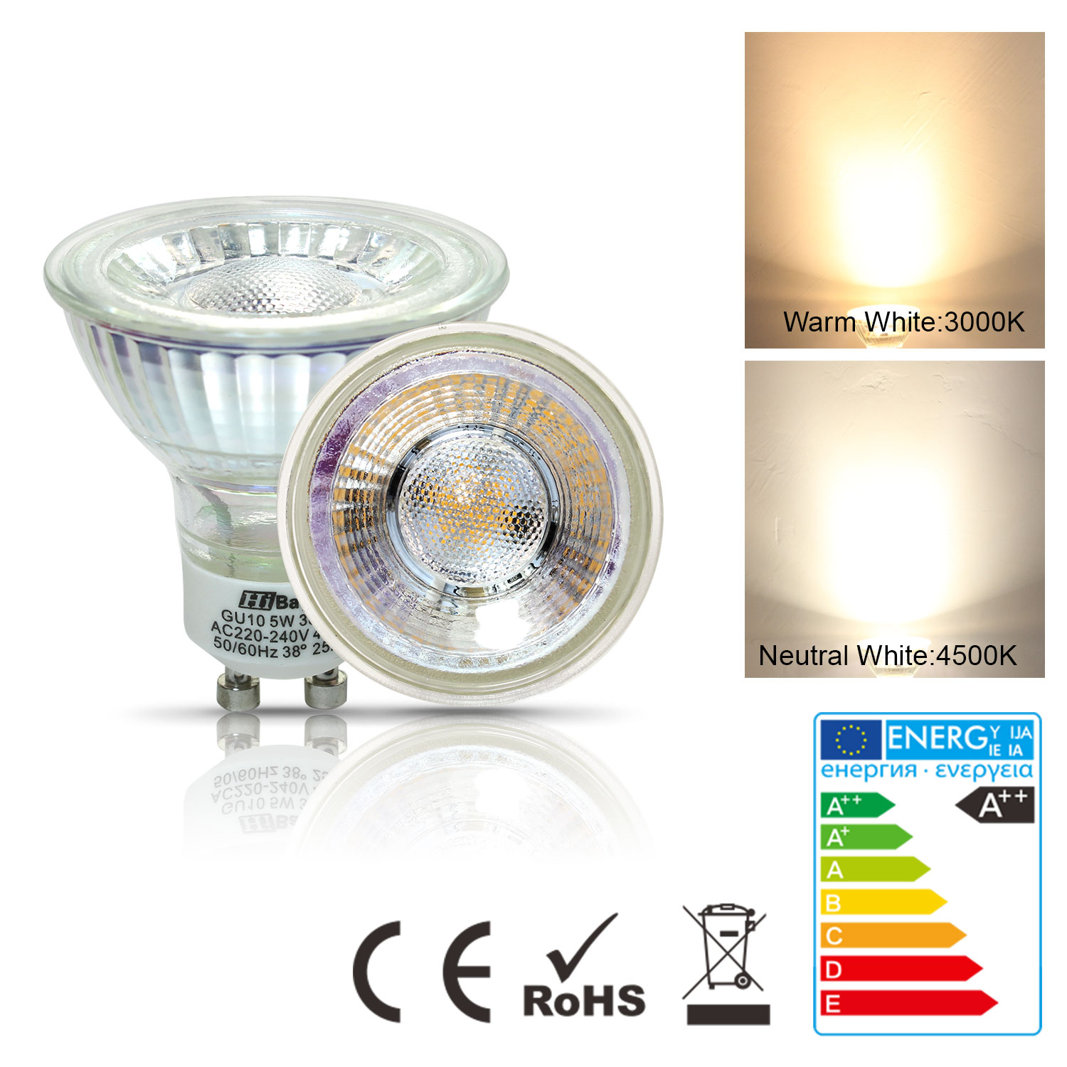 gu10 led smd spot light bulbs 4w 5w 6w 7w eqv 35w 55w warm neutral white 220v ebay. Black Bedroom Furniture Sets. Home Design Ideas