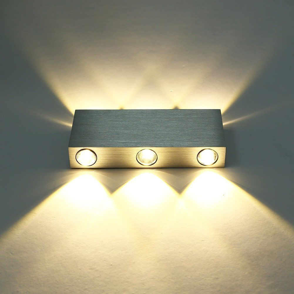 Indoor Wall Light: 5-8 LED Modern Aluminum Up Down Wall Light Sconce Indoor
