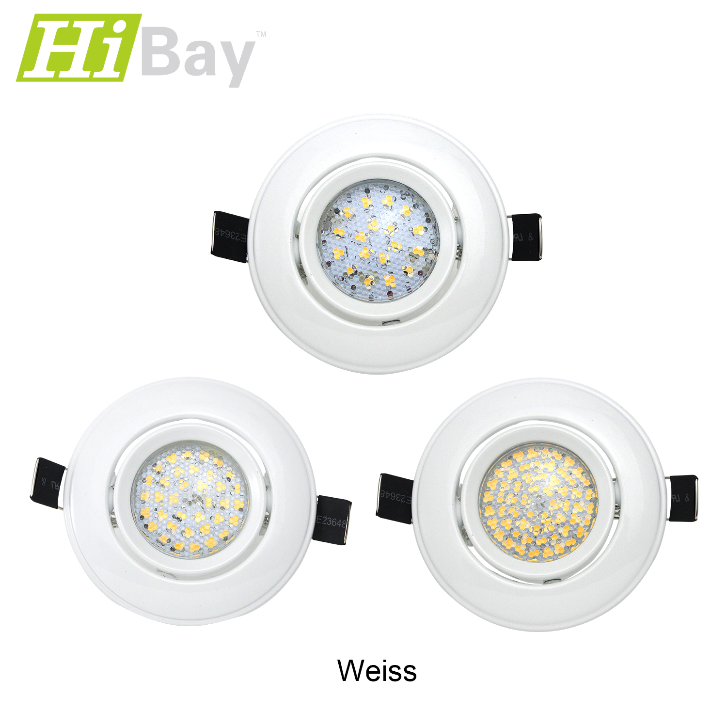 led einbaustrahler set spot 3w 4w 5w 230v strahler gu10 fassung decken lampe ebay. Black Bedroom Furniture Sets. Home Design Ideas